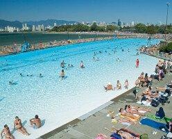 Общественные бассейны в Ванкувере на открытом воздухе