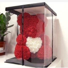 Мишки из 550 роз ручной работы