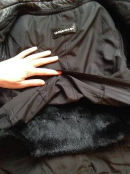I'm selling my leather jacket with real silver fox fur.