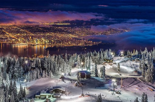 Гора Граус (дословно — гора Тетерев, Grouse Mountain)