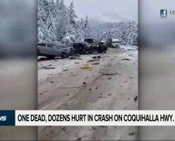Ужасная авария в Британской Колумбии: 30 пострадавших и 1 погибший
