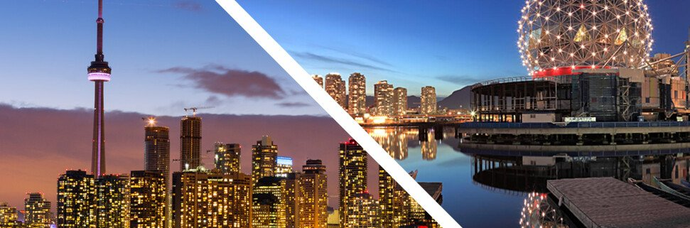 Торонто или Ванкувер сравнению