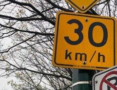 В Британской Колумбии хотят установить ограничение скорости в 30 км/ч на жилых переулках всей провинции