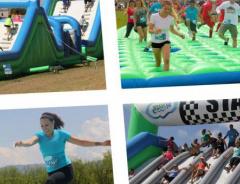 Полоса препятствий «Insane Inflatable 5K» приезжает в Канаду