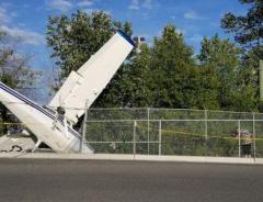 В Ванкувере упал самолет