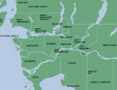 Карта Ванкувера: немного о тонкостях административно-территориального деления в Ванкувере