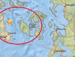 Землетрясение магнитудой 4.8 произошло в Ванкувере