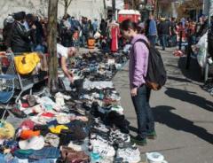 Уличный рынок в Даунтаун Истсайд (Downtown Eastside)