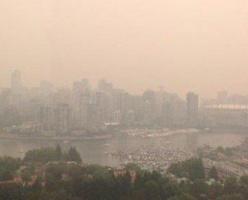 Воздух над Ванкувером загрязнён опасной пылью