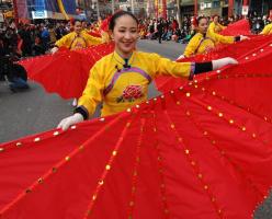 Парад, посвящённый китайскому Новому году