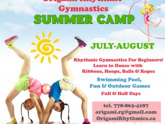 """Summer Camp для девочек в клубе художетсвенной гимнастики """"Оригами"""""""