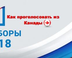 Как принять участие в выборах президента Российской Федерации из Канады?