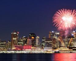 Новодний фейерверк в Ванкувере (ФОТО)