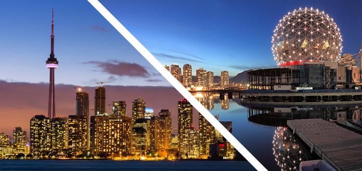 Торонто или Ванкувер
