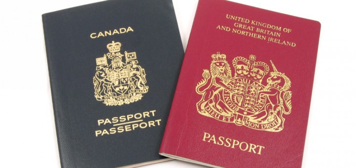 Фото Canadian and British passports (Norman Chan/Shutterstock)