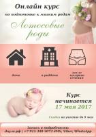 """Онлайн курс для беременных и готовящихся к зачатию """"Лотосовые роды"""""""